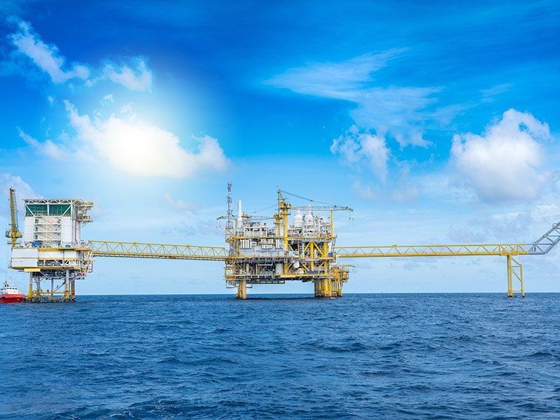 We provide Safety integrity level (SIL) on all locations like this image of a rig out at sea